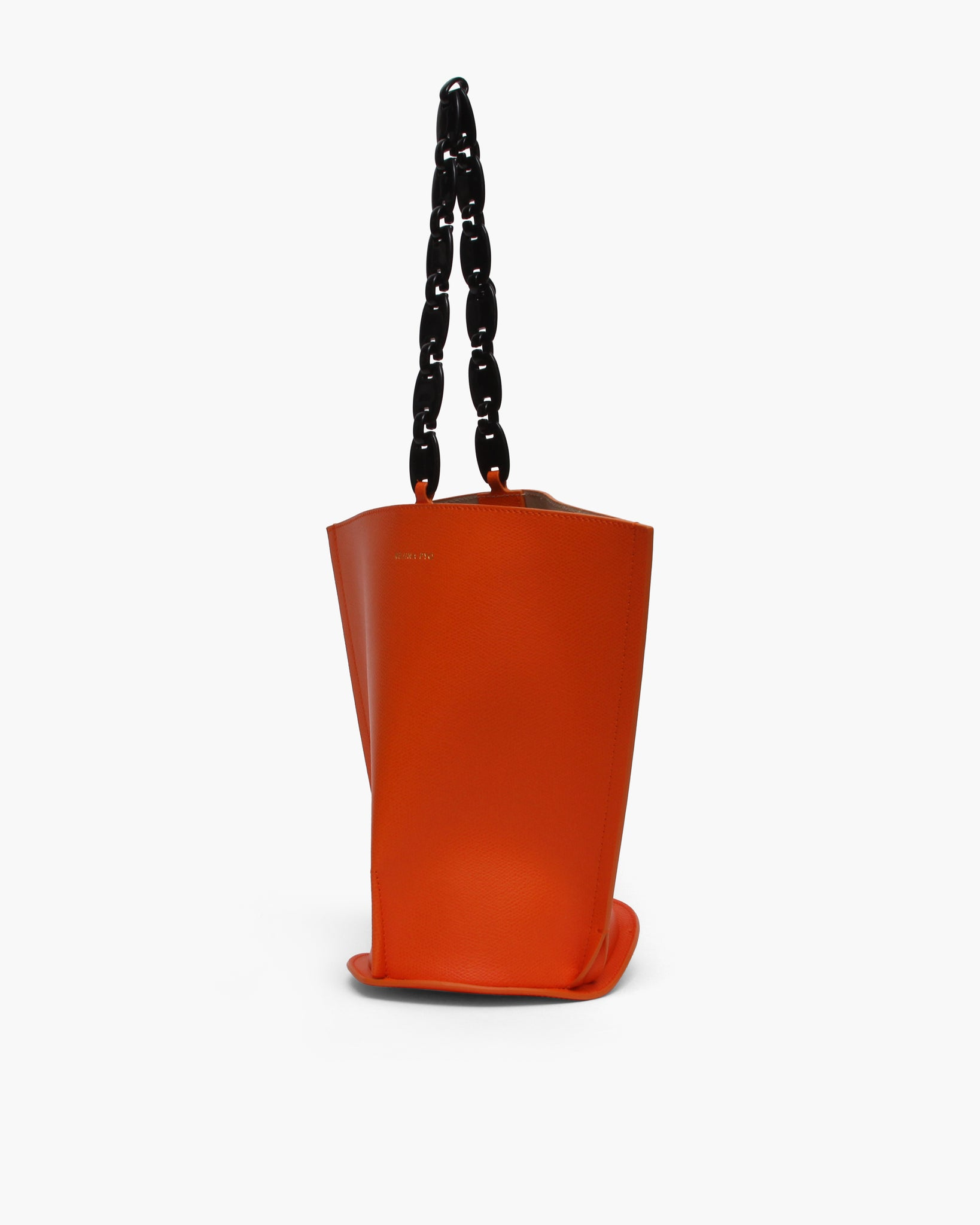 Pippa Bag Leather Texture Orange