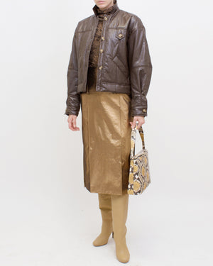 Pippa Jacket Faux Leather Brown