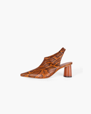 Riley Slingbacks Leather Python Orange