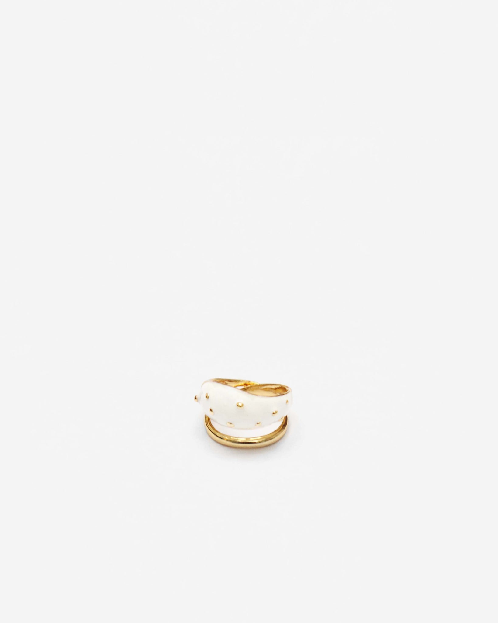 Cecilia Ring Boule Ivory