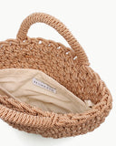 Rose Satin Rope Woven Bag Natural