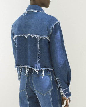 Tessa Raw Edged Jacket Blue Denim