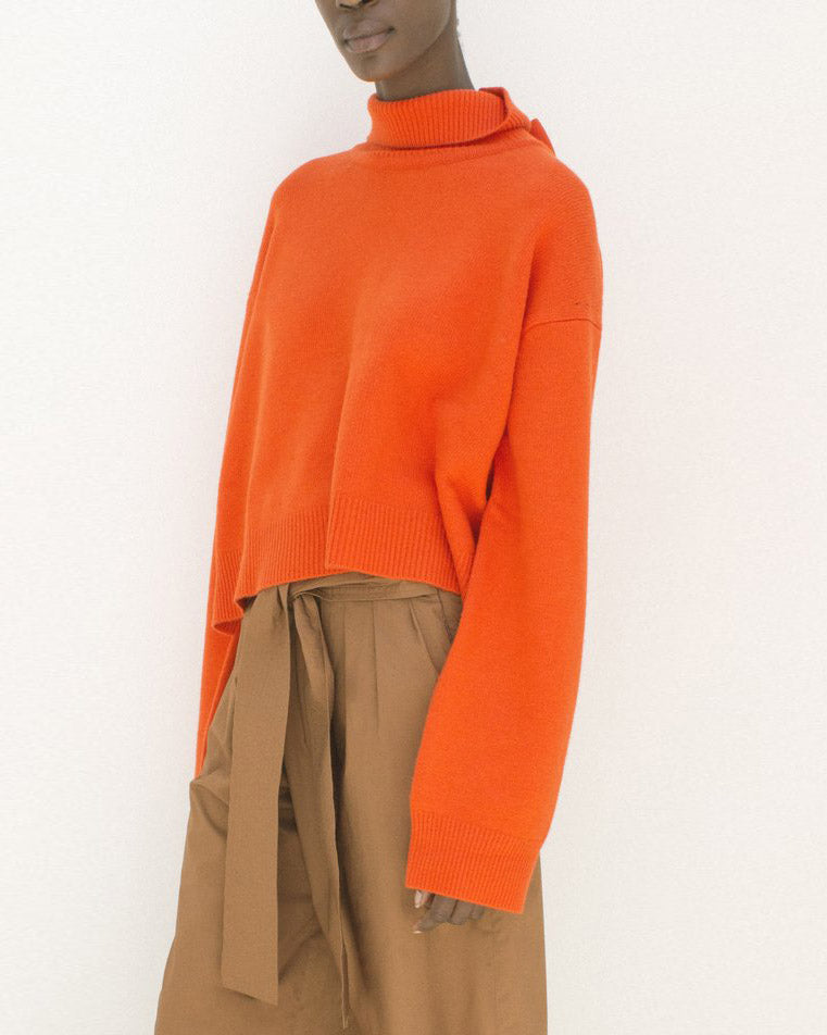 Amanda Tie-Back Jumper Orange