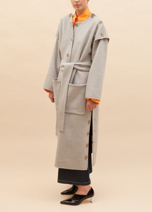 Simone Coat Wool Cashmere Grey