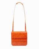 Ana Bag Leather Croc Orange