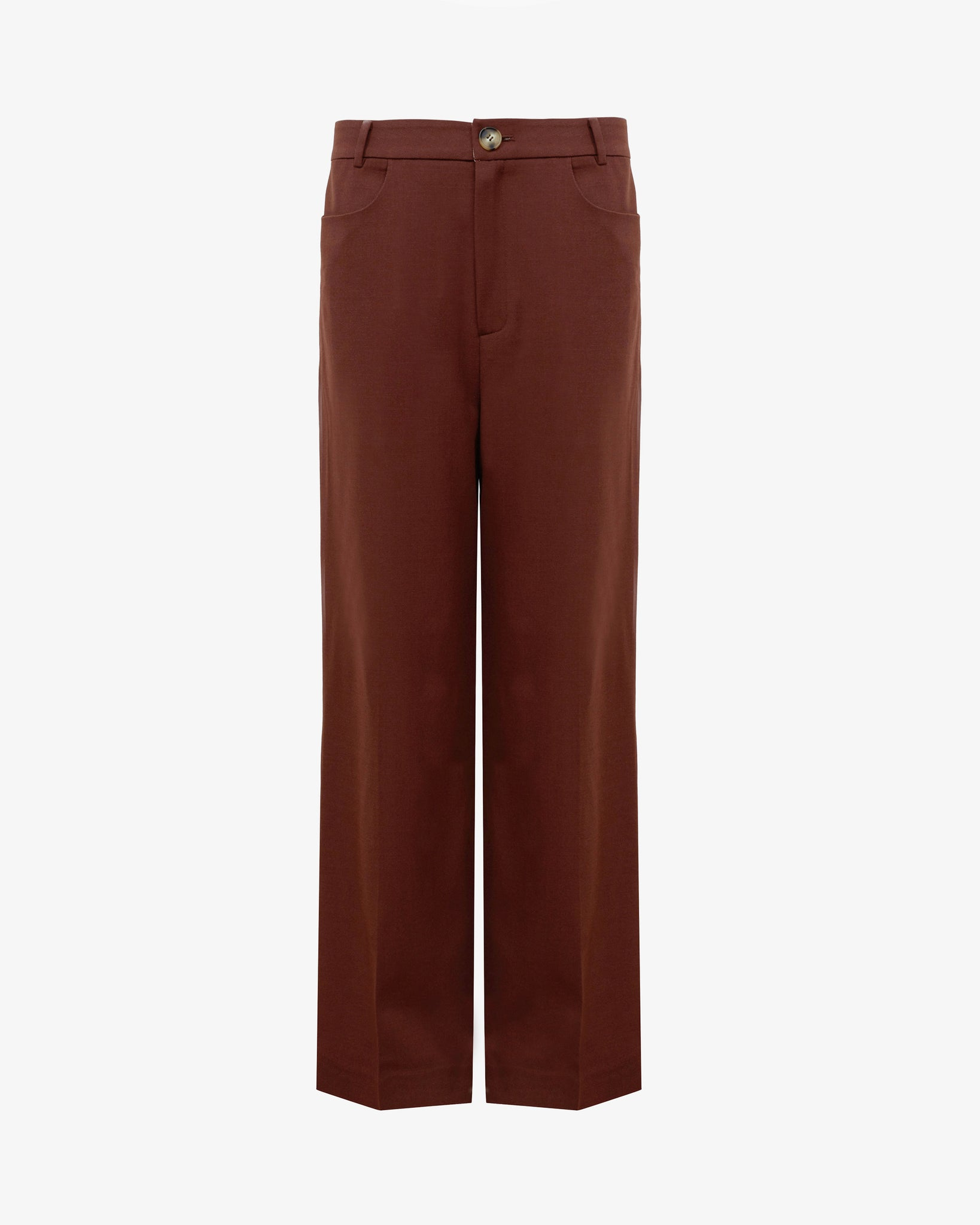 Elliot Trousers Wool Blend Brown - UNISEX