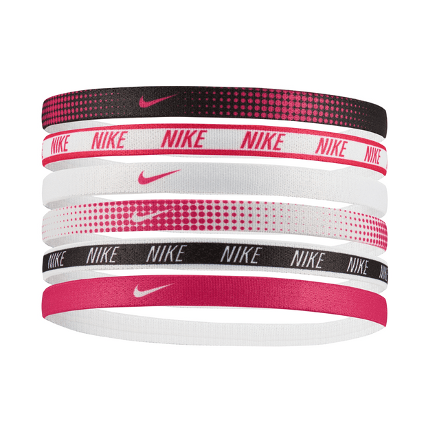 Nike Printed Headbands Assorted 6PK Pink