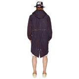 HOODED RAINCOAT NAVY
