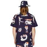 PRINTED SUMMER SHIRT NAVY