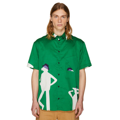 SLANTED POCKET SHIRT GREEN