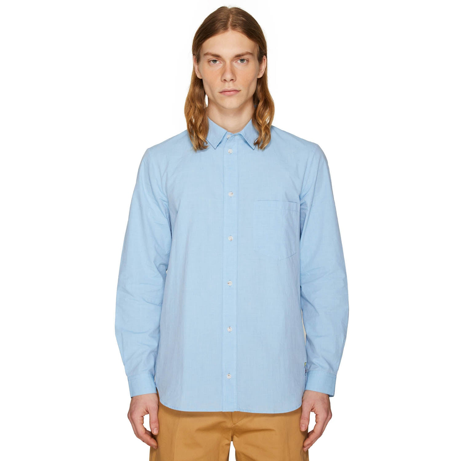 SLIM FIT SHIRT WASHED BLUE WATER