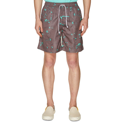 RISO OUTLINE SWIMSHORT DARK GREY