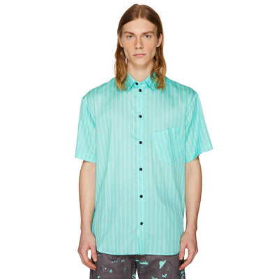 BAND STRIPE SHIRT DEEP AQUA