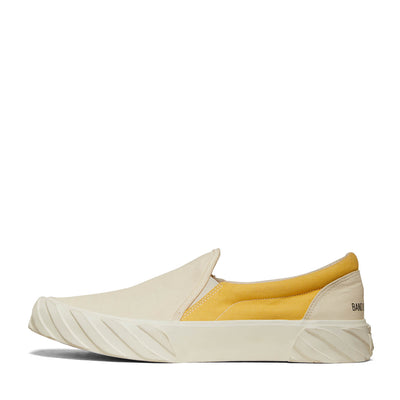 AGE X BAND OF OUTSIDERS SLIP-ON CANVAS WHITE