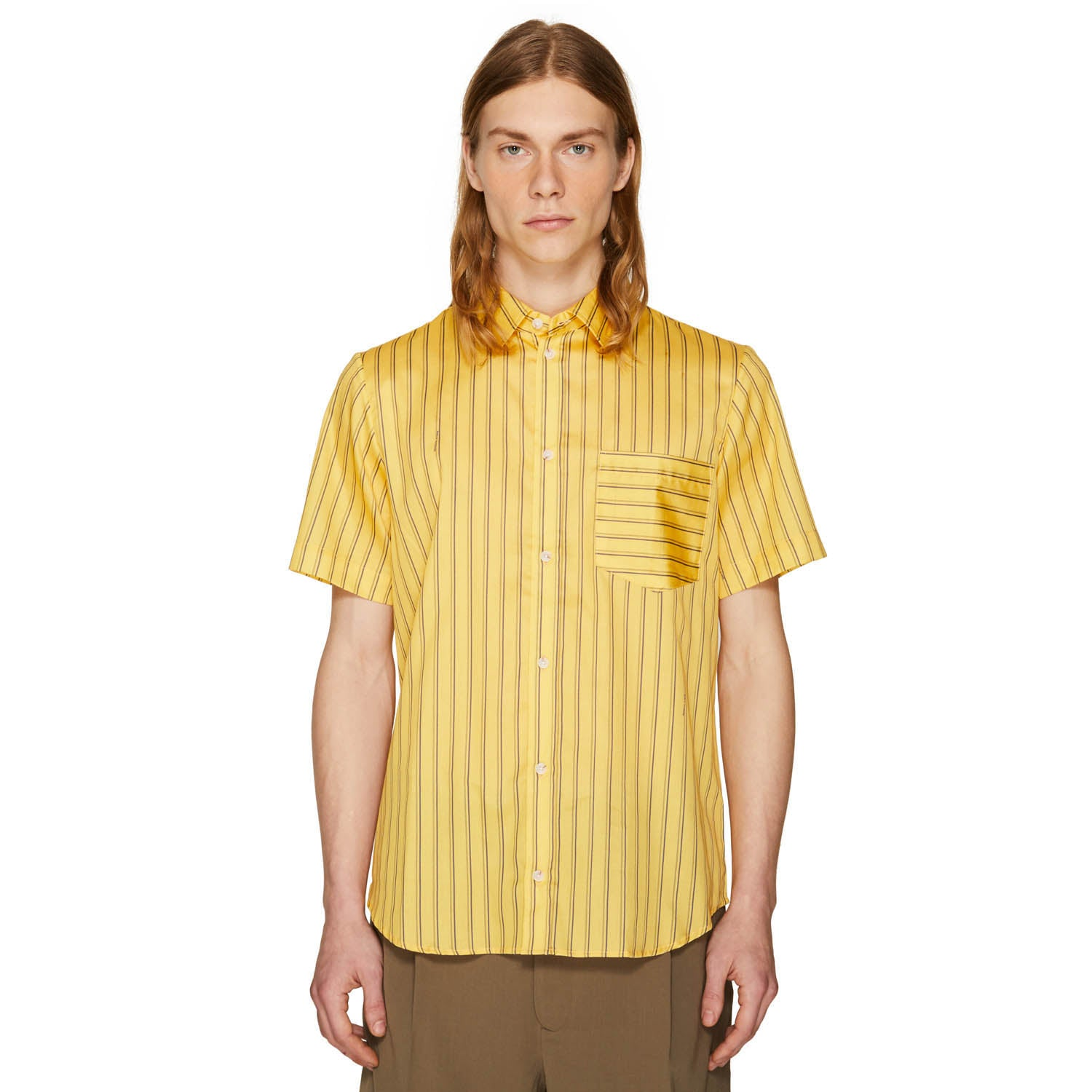 BAND STRIPE SHIRT LEMON YELLOW