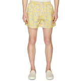 RISO FLOWER SWIMSHORT LEMON YELLOW/ICE GREY
