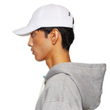 B EMBROIDERED WHITE CAP