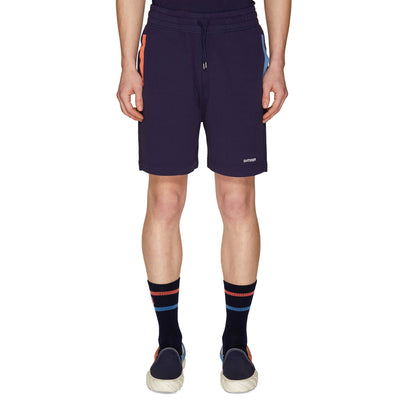 CONTRAST POCKETS SWEATSHORTS NAVY