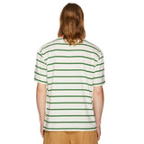OVERSIZED STRIPED T-SHIRT OFF-WHITE/GREEN