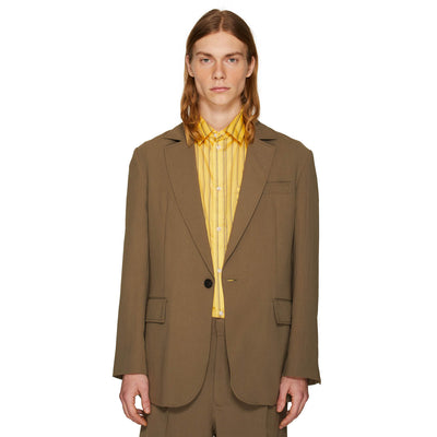 OVERSIZED SINGLE BREASTED JACKET OLIVE