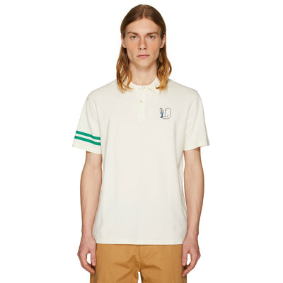EMBROIDERED POLO SHIRT OFF-WHITE