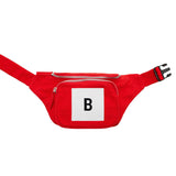 B Logo Red Bumbag