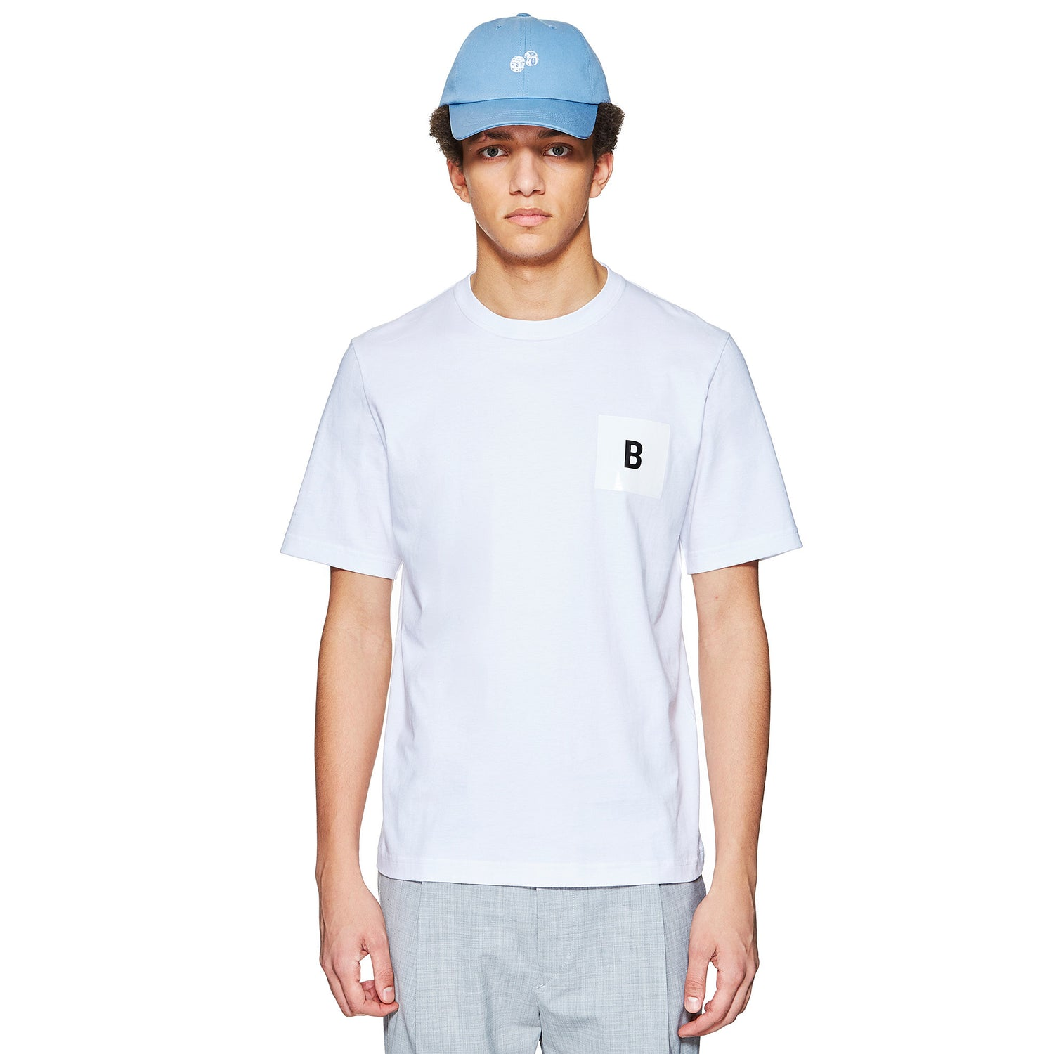 B LOGO WHITE T-SHIRT