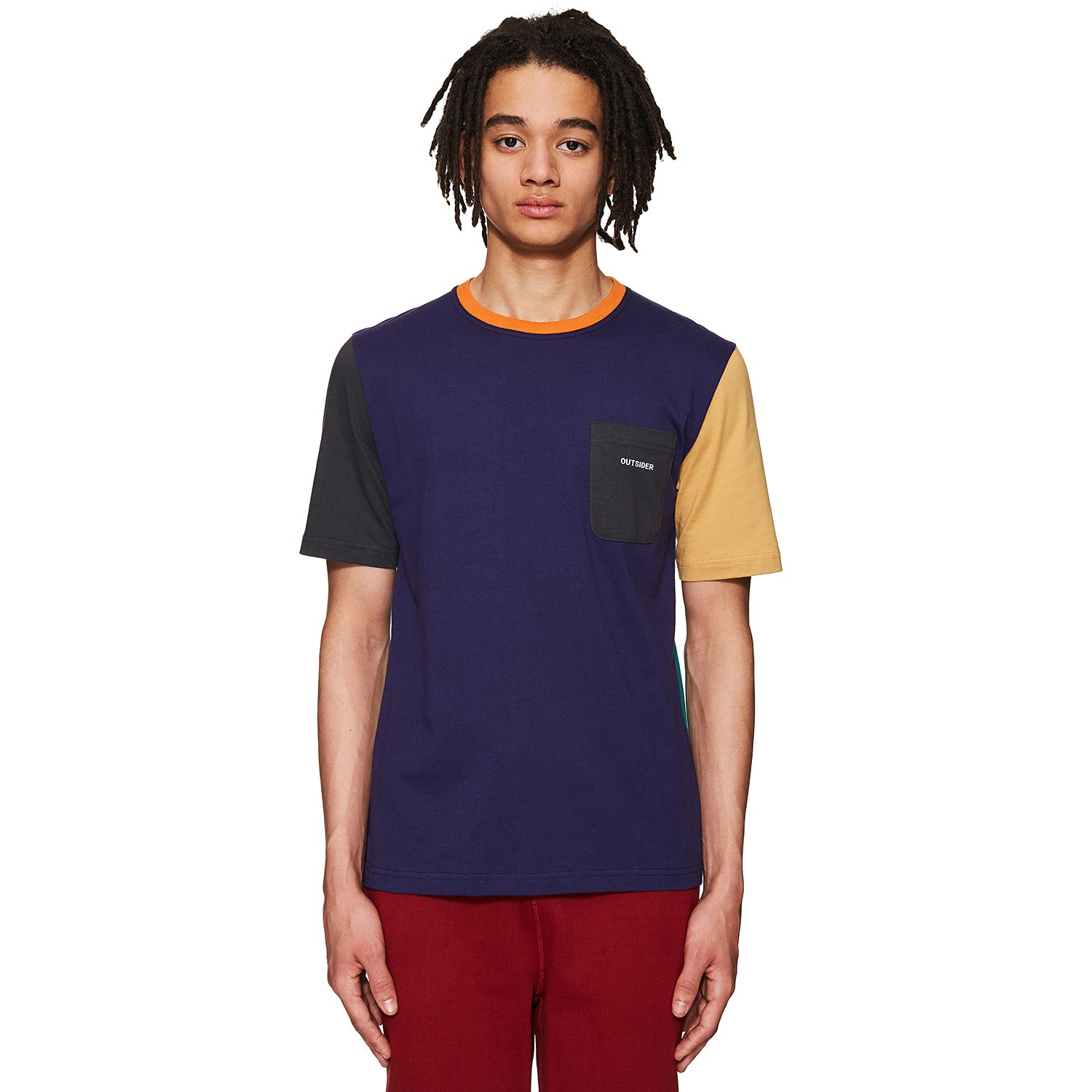 Colourblock T-shirt Navy / Beige