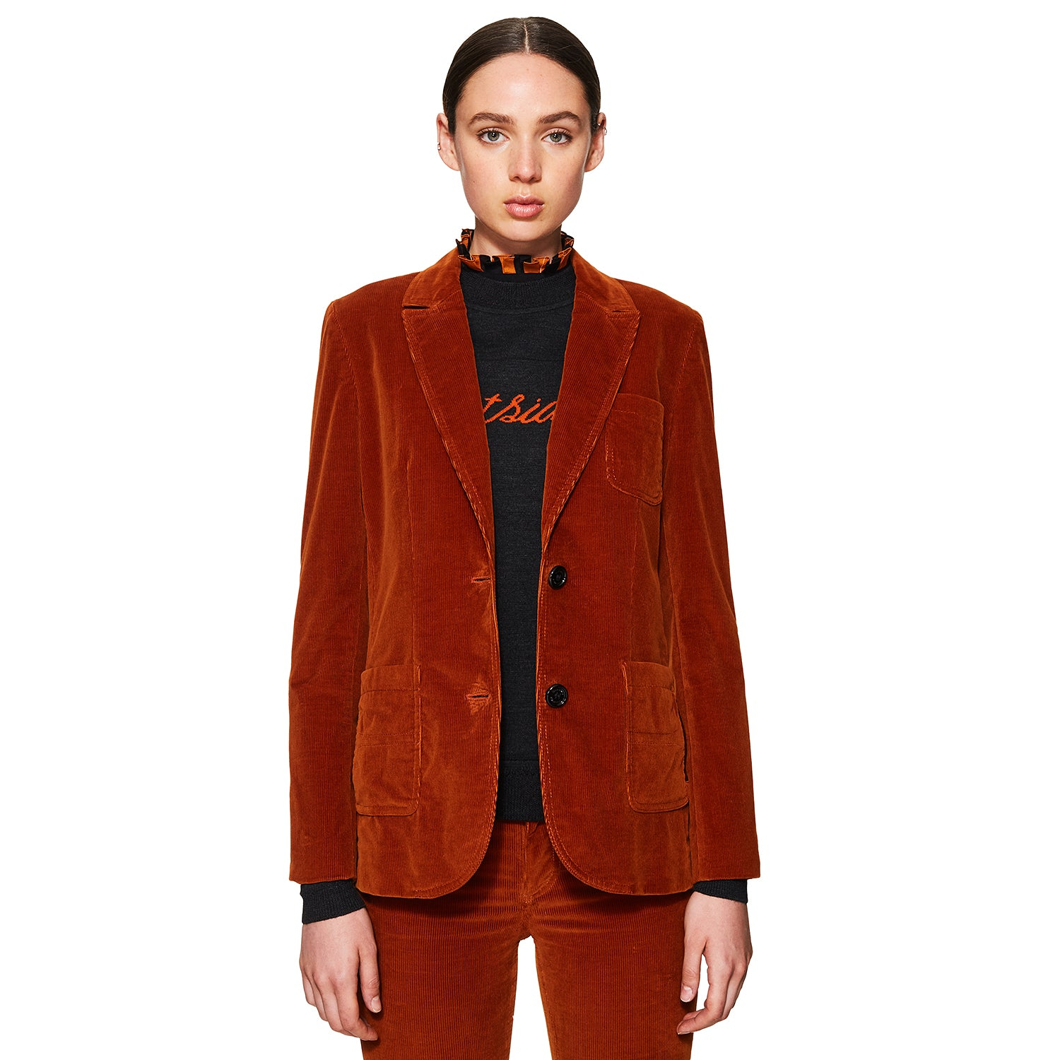 Cord Suiting Jacket Spicy Orange