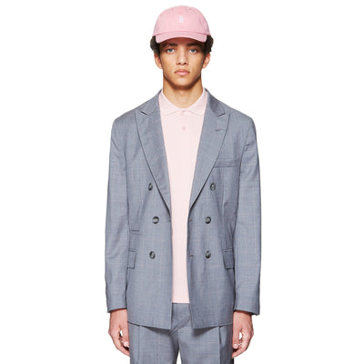 OVERSIZED DOUBLE BREASTED JACKET GREY