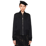 Satin Outsider Bomber Jacket Black