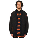 Boiled Wool Cardigan Charcoal