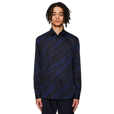 Spaceship Print Shirt Navy