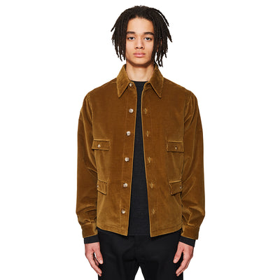 Corduroy Overshirt Olive Brown