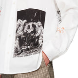 Man On The Moon Print Shirt White