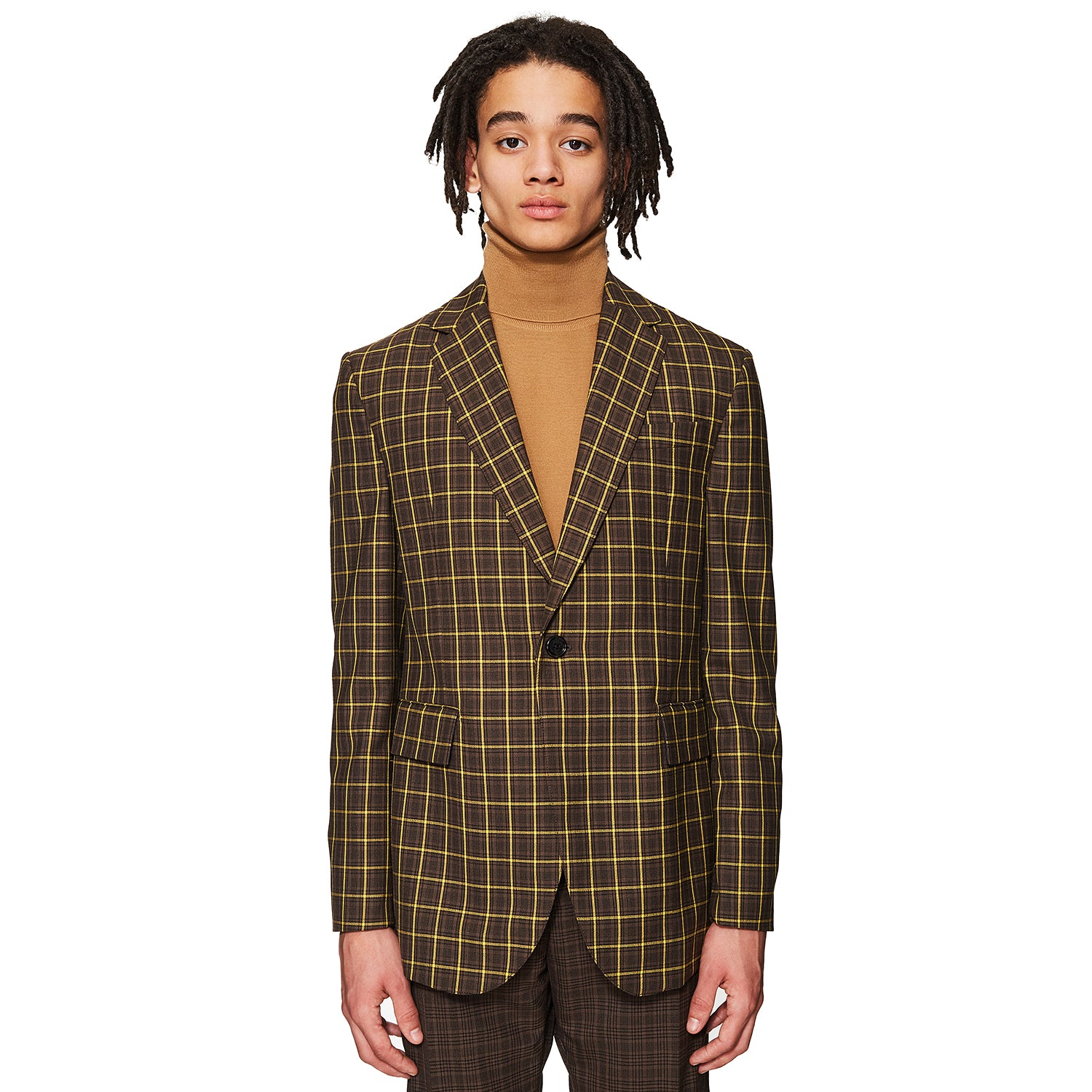 Single Breasted Tailoring Jacket Brown