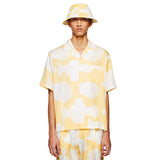 YELLOW HAWAIIAN MARBLE SHIRT