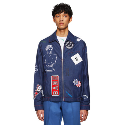 ALL OVER PATCHES LOGOS DENIM JACKET