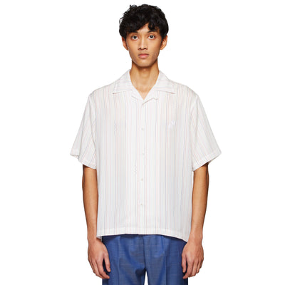BOARDIES X BAND OF OUTSIDERS PSYCHEDELIC SHIRT WHITE