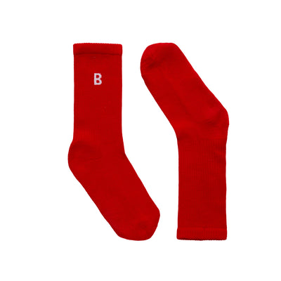 B Sport Red Socks