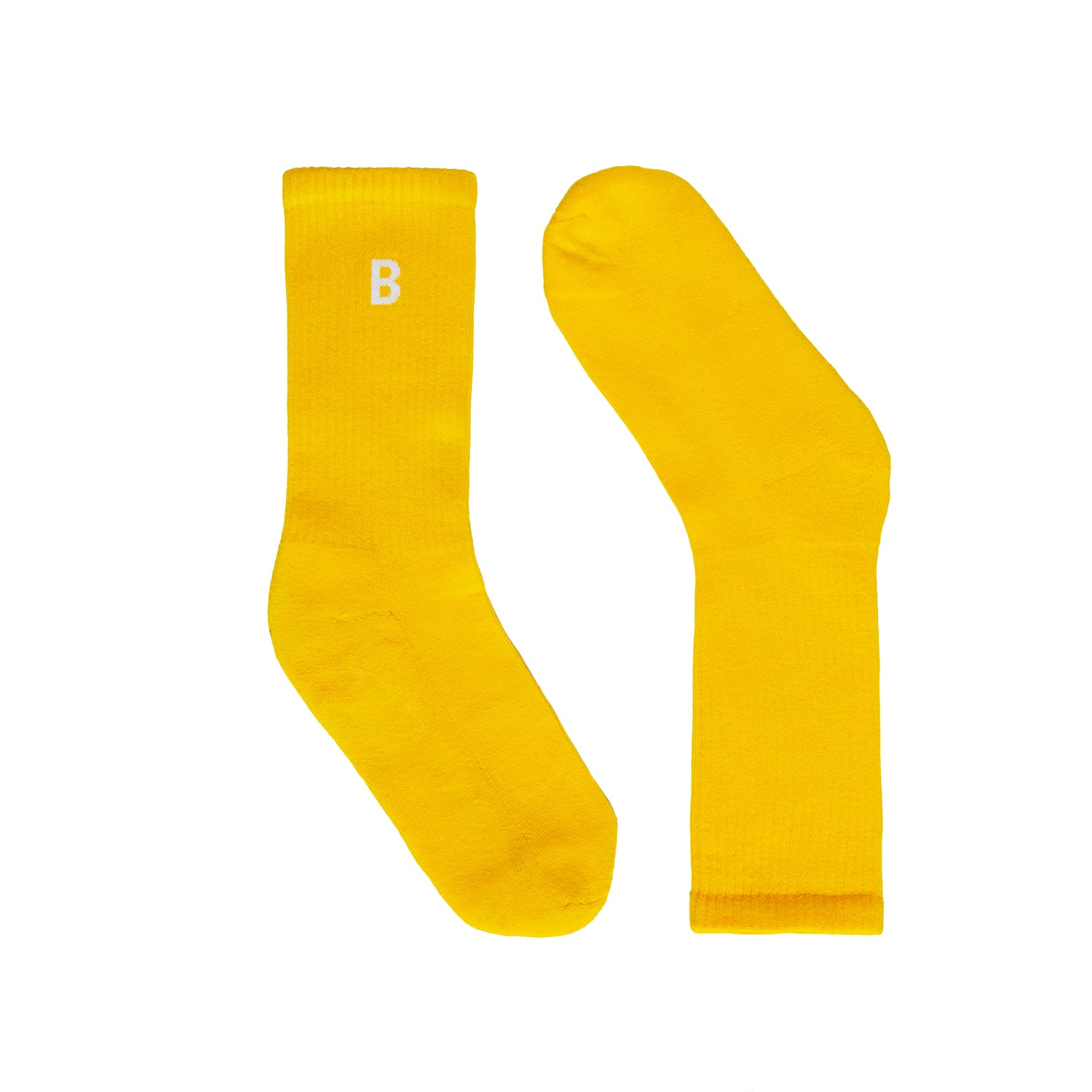 B Sport Yellow Socks