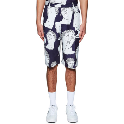 NAVY HAWAIIAN MARBLES SHORTS