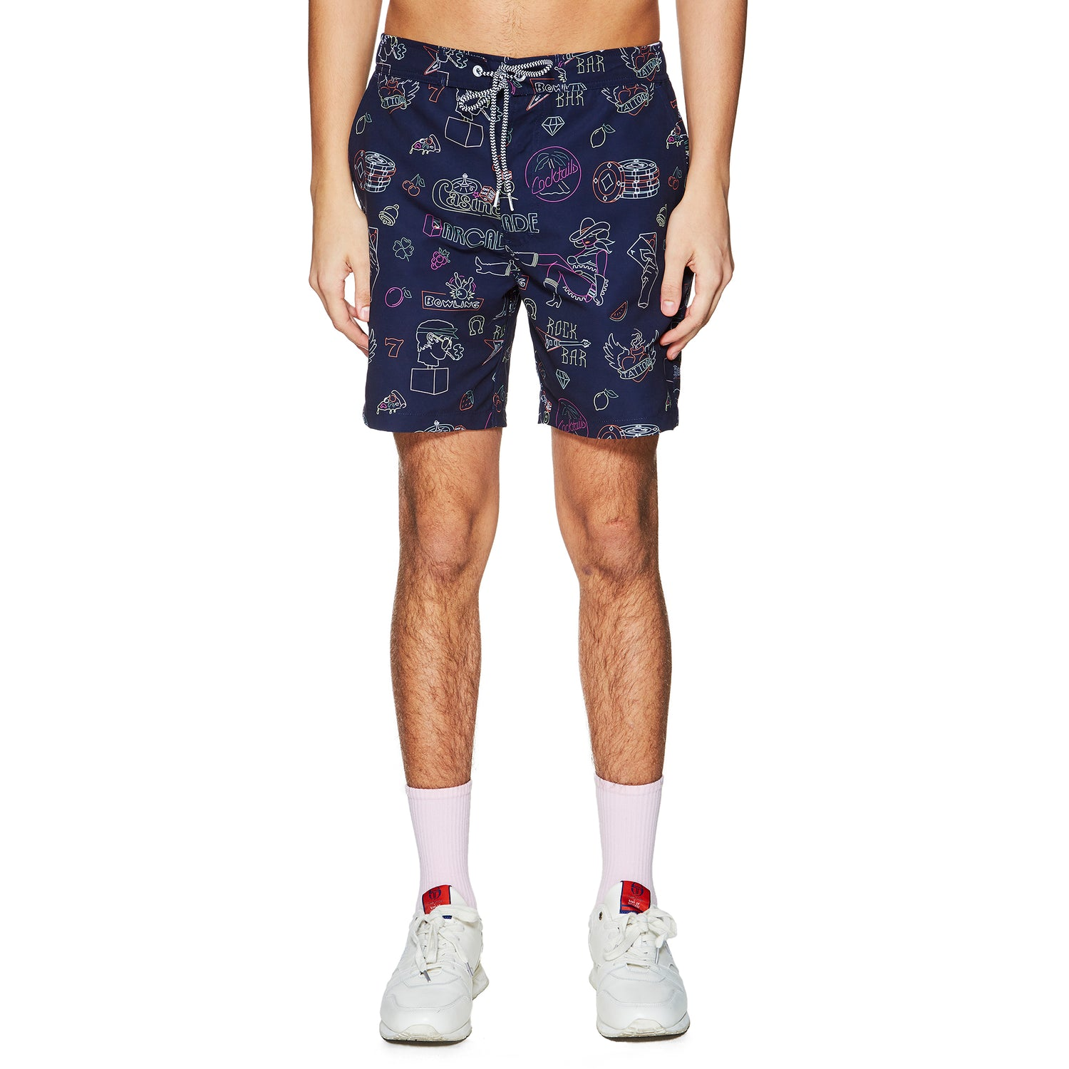 BOARDIES X BAND OF OUTSIDERS NEON SIGNS SWIMSHORT