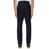 Formal Drawstring Trousers Navy