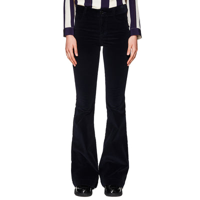 Cord Flare Trousers Navy