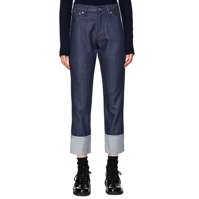 Wool Denim Trousers Indigo