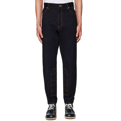 Workwear Tapered Denim Trousers