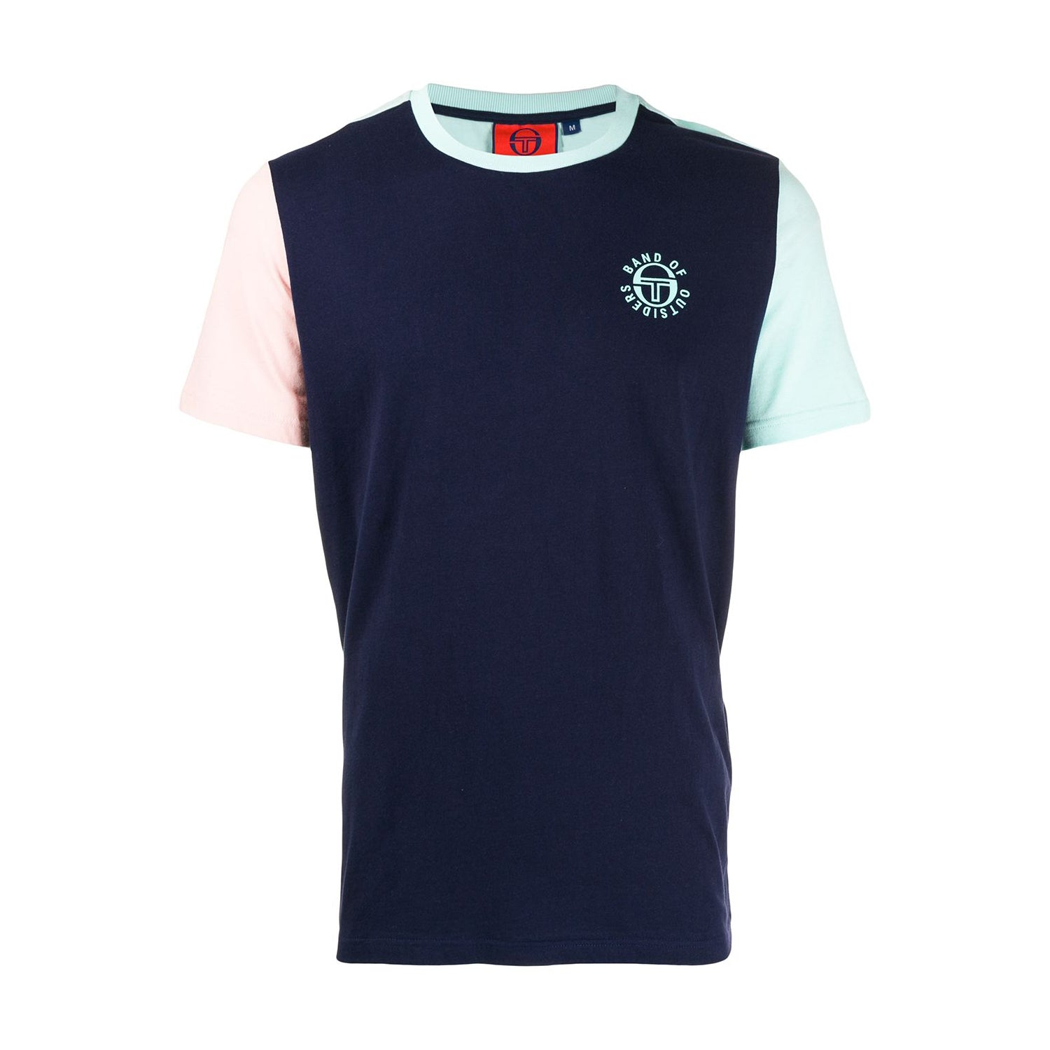 SERGIO TACCHINI X BAND OF OUTSIDERS COLOR BLOCK T-SHIRT NAVY