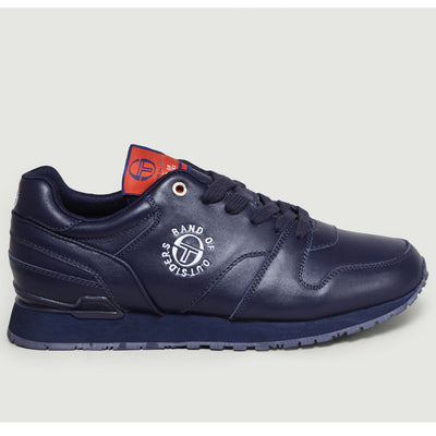 SERGIO TACCHINI X BAND OF OUTSIDERS LEATHER SNEAKERS NAVY