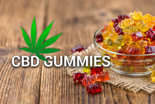 Load image into Gallery viewer, CBD GUMMIES, 10 in pack, BUY 4 GET 1 FREE